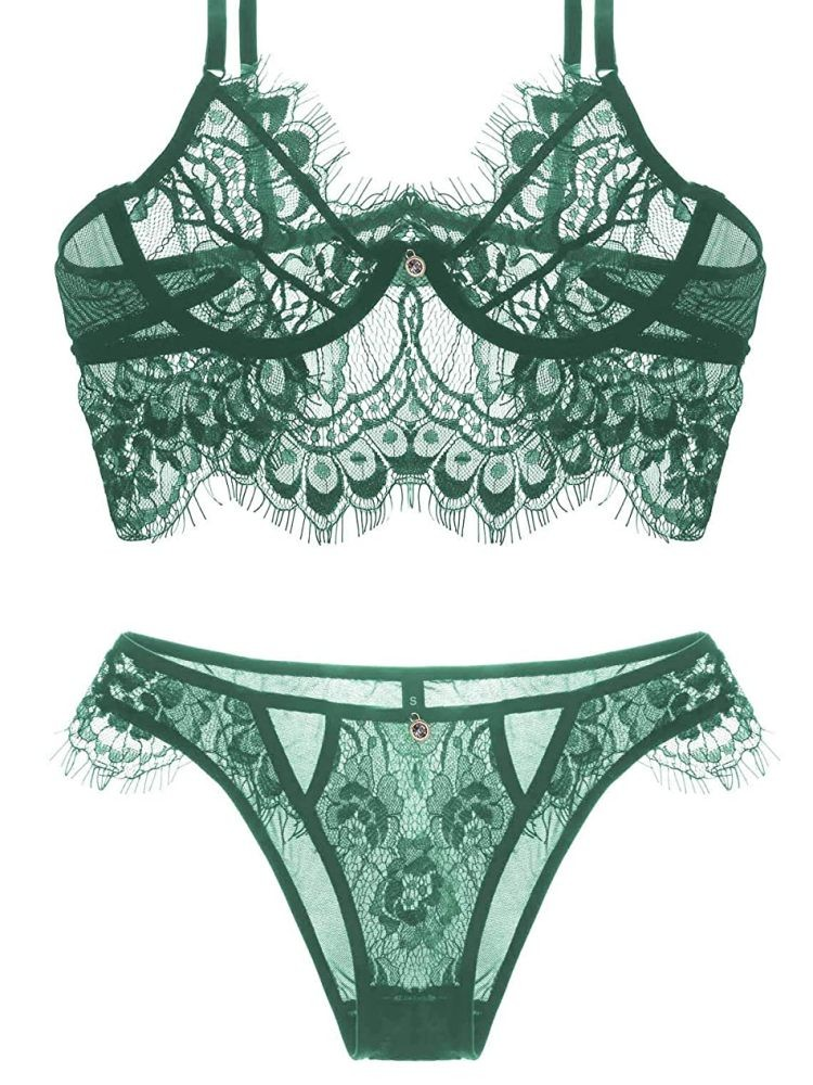 TREASURE EMERALD LINGERIE SET