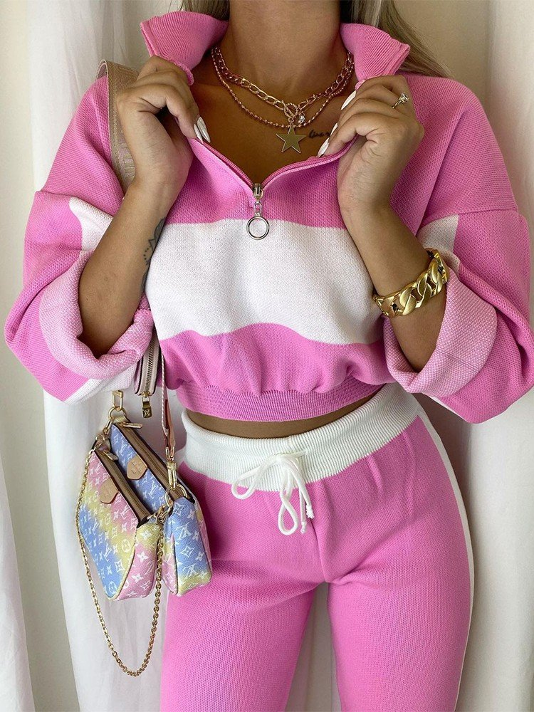 FALDEN PINK ATHLETIC SET