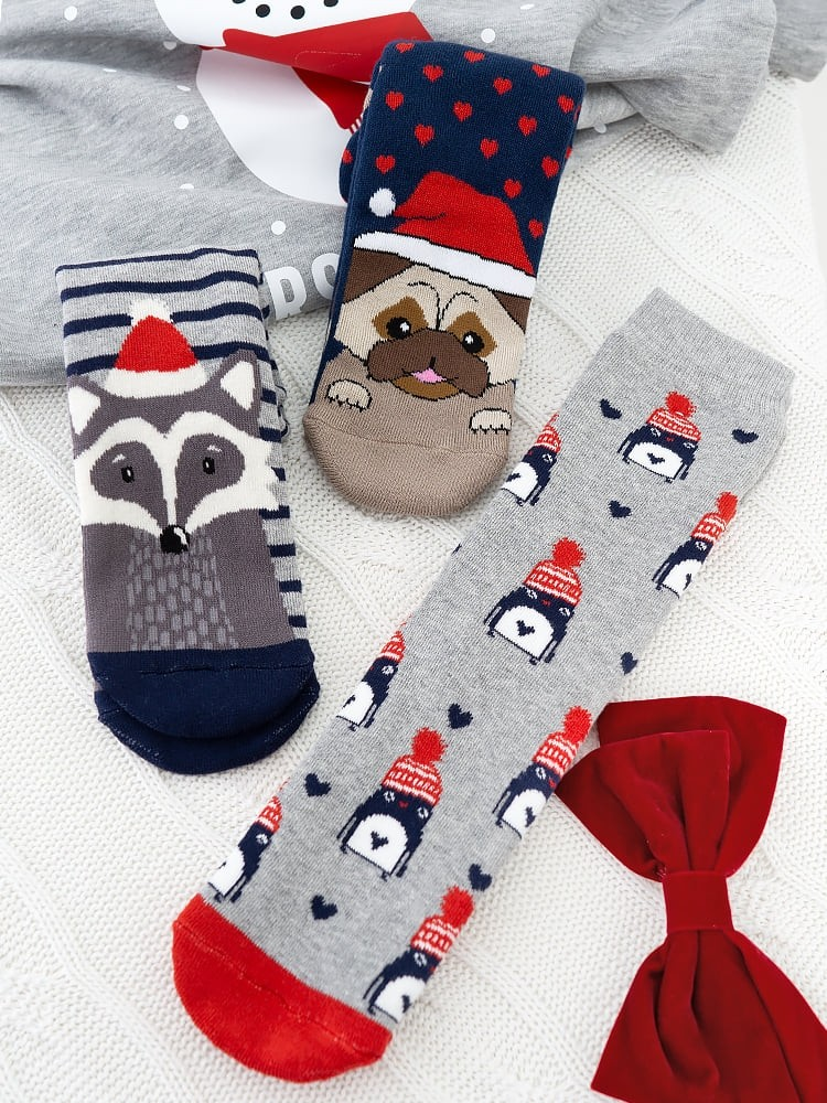 XMAS FRIENDS SOCKS PACK OF 3