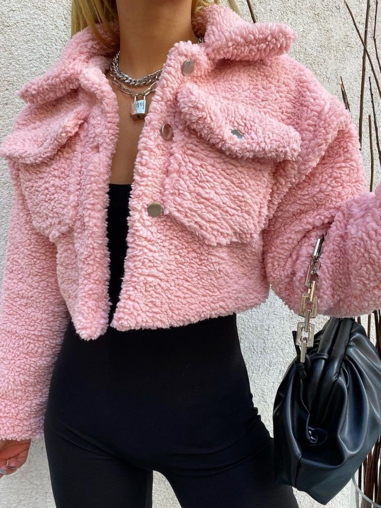 PINK TEDDY JACKET