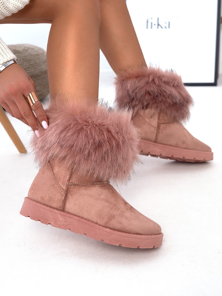 NANTIA PINK FUR BOOTIES