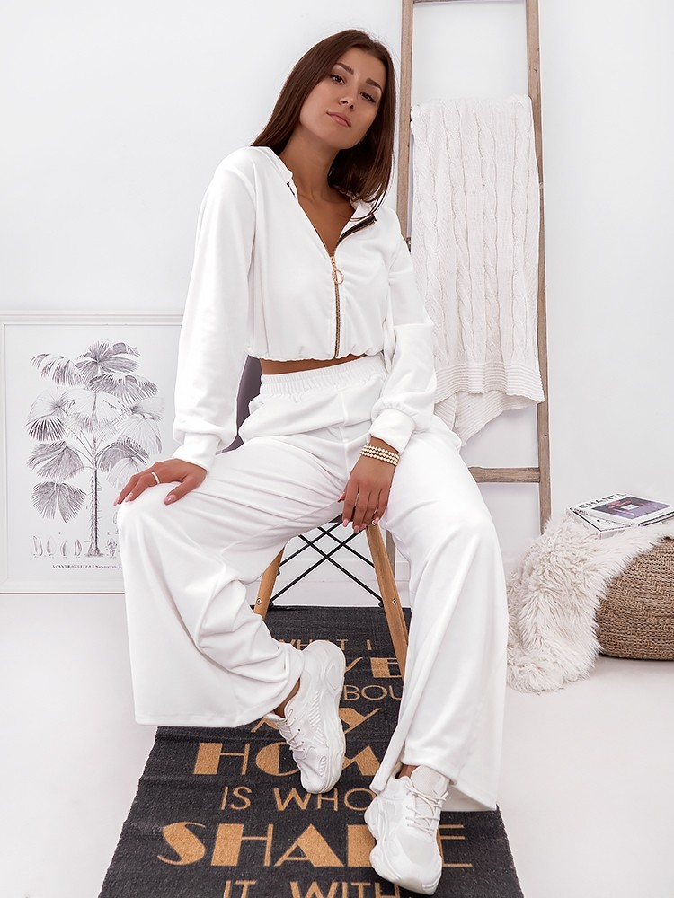 EVELIN WHITE VELOUR SET
