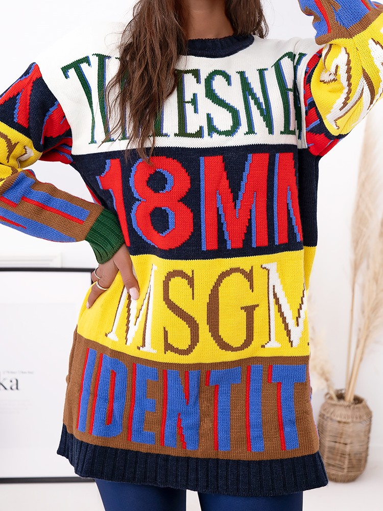 LETTERS COLORFULL PULLOVER