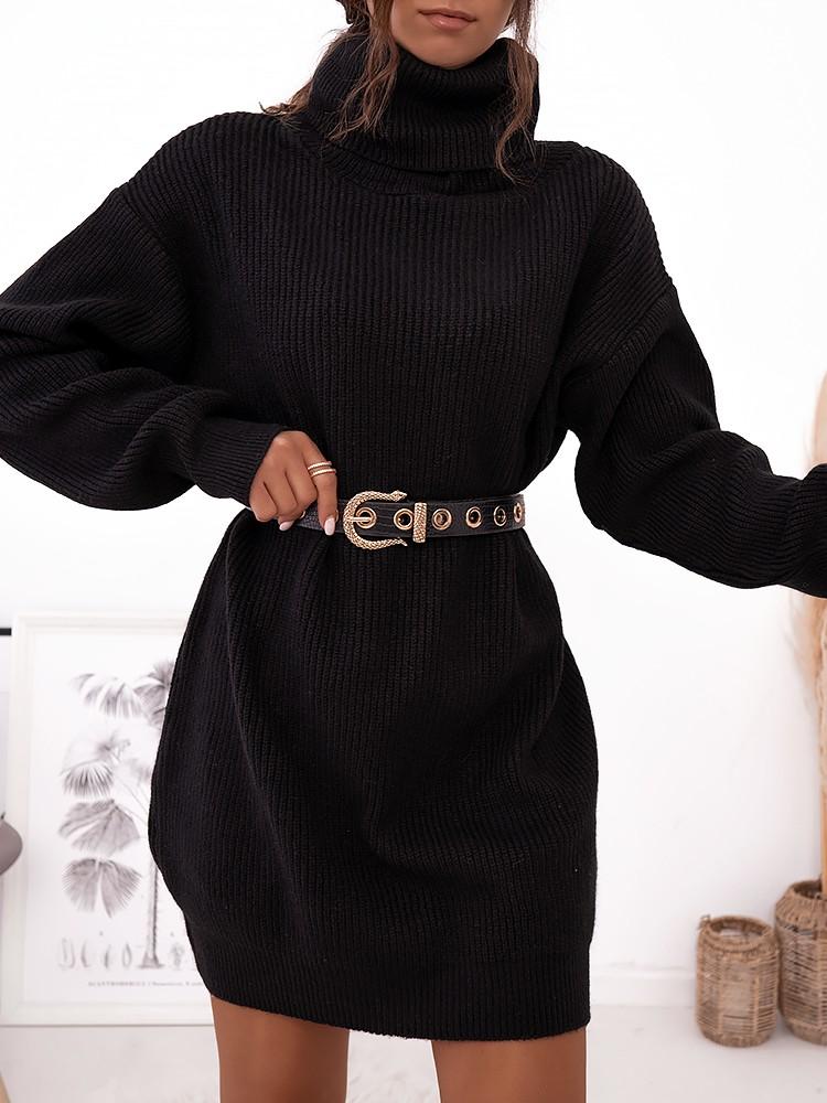 LIANA BLACK KNITTED DRESS