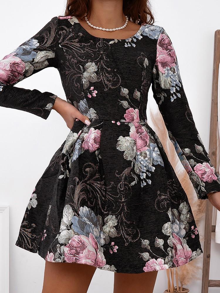 LADY BROCADE DRESS