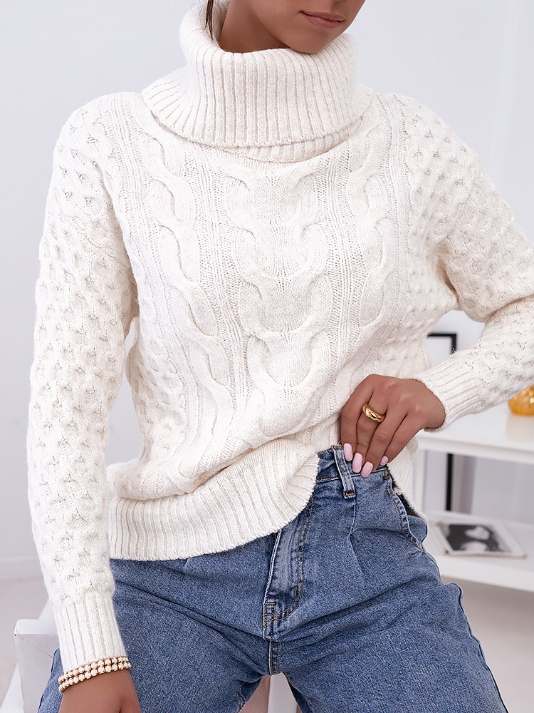 SARA OFF WHITE KNITTED BLOUSE