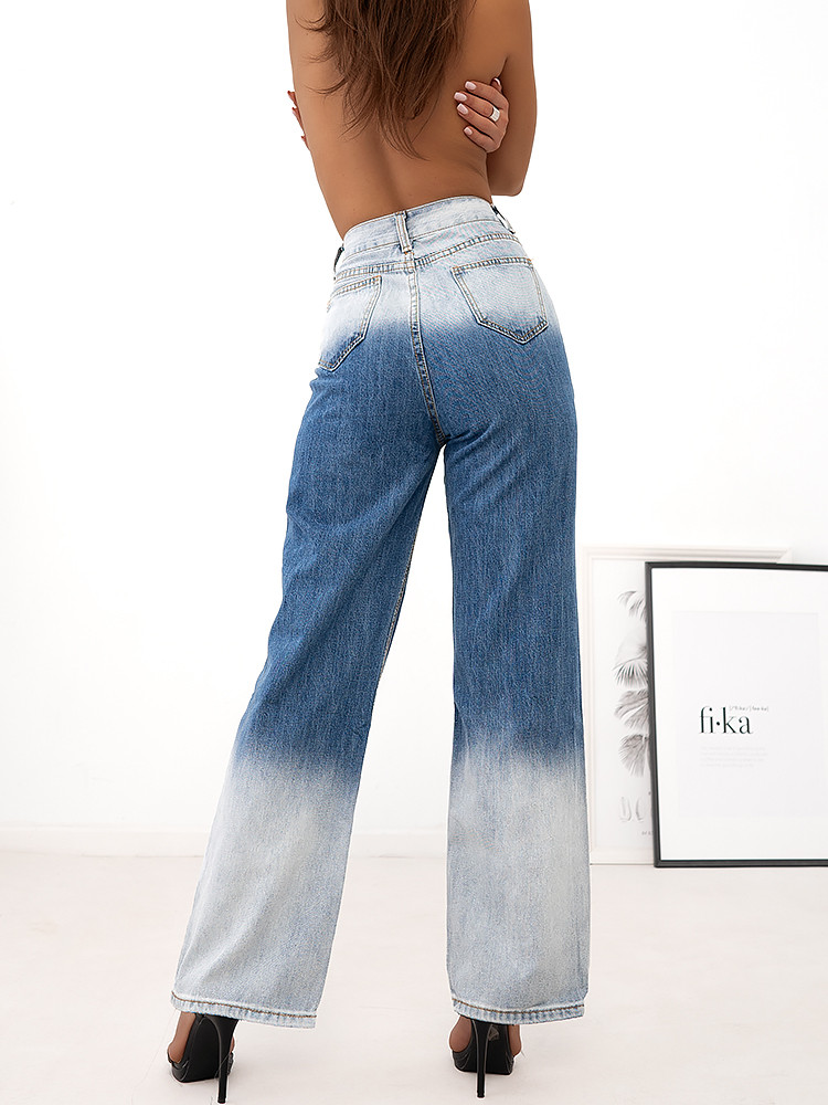 BLEACHED HIGH WAISTED JEANS