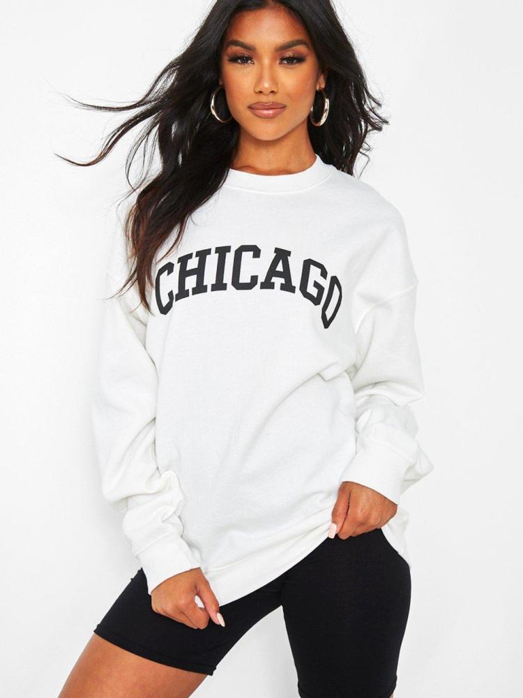 CHICAGO WHITE SWEATSHIRT