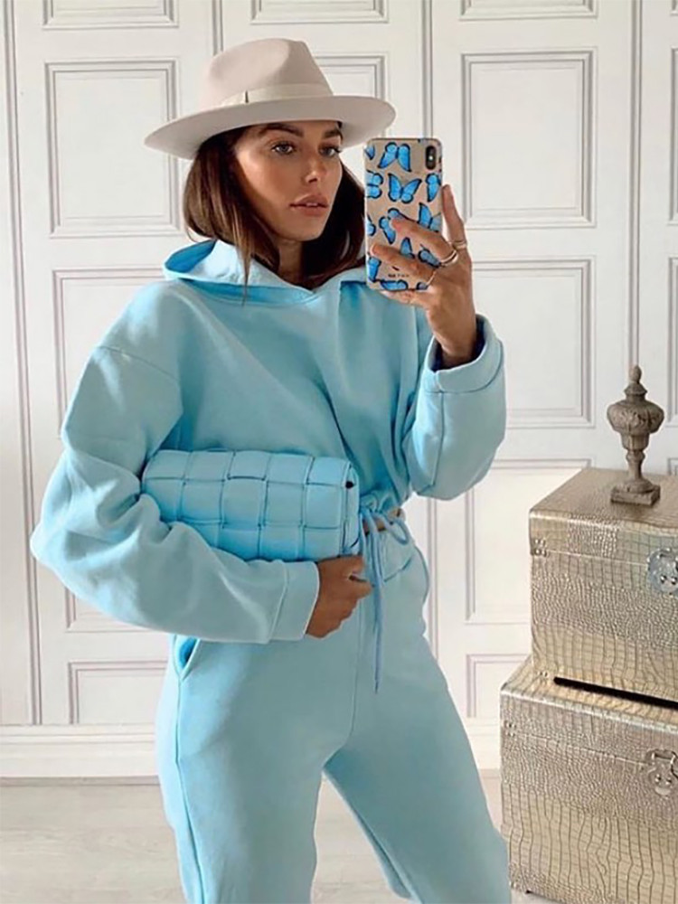 KEISI BABY BLUE ATHLETIC SET