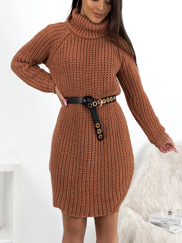 CECILIA CHOCO KNITTED DRESS