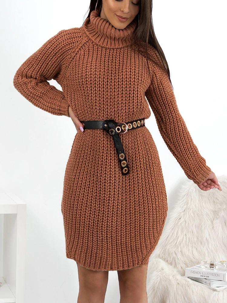 CECILIA CHOCO KNITTED DRESS