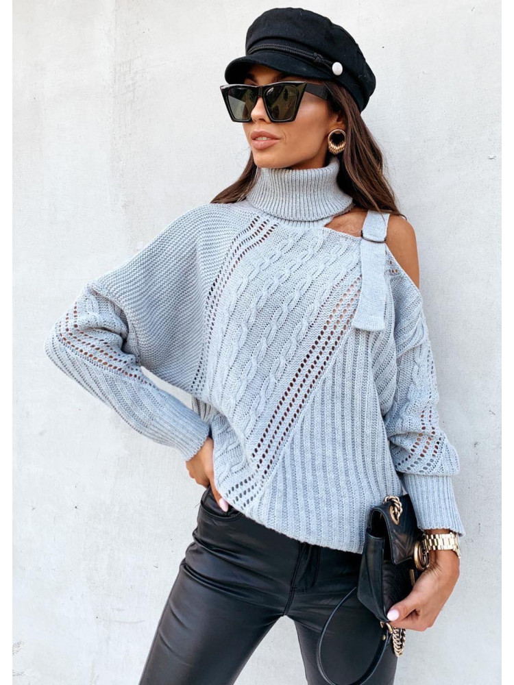 ISABEL GREY KNITTED BLOUSE