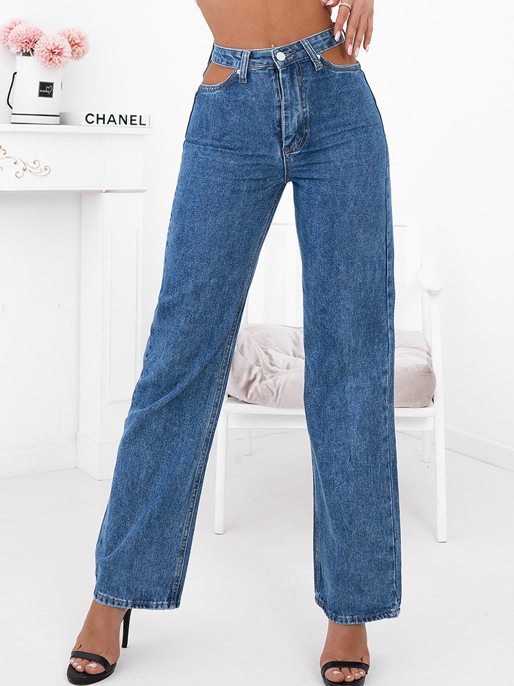 JOAN HI WAISTED  CUT JEANS