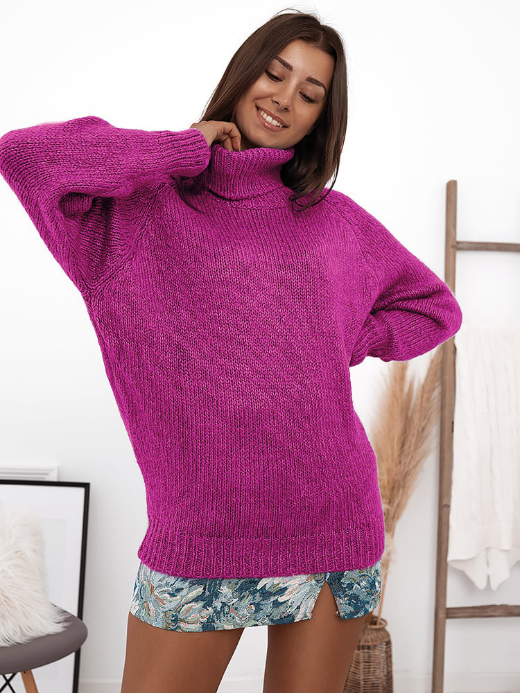VICKY MAGENTA KNITTED BLOUSE