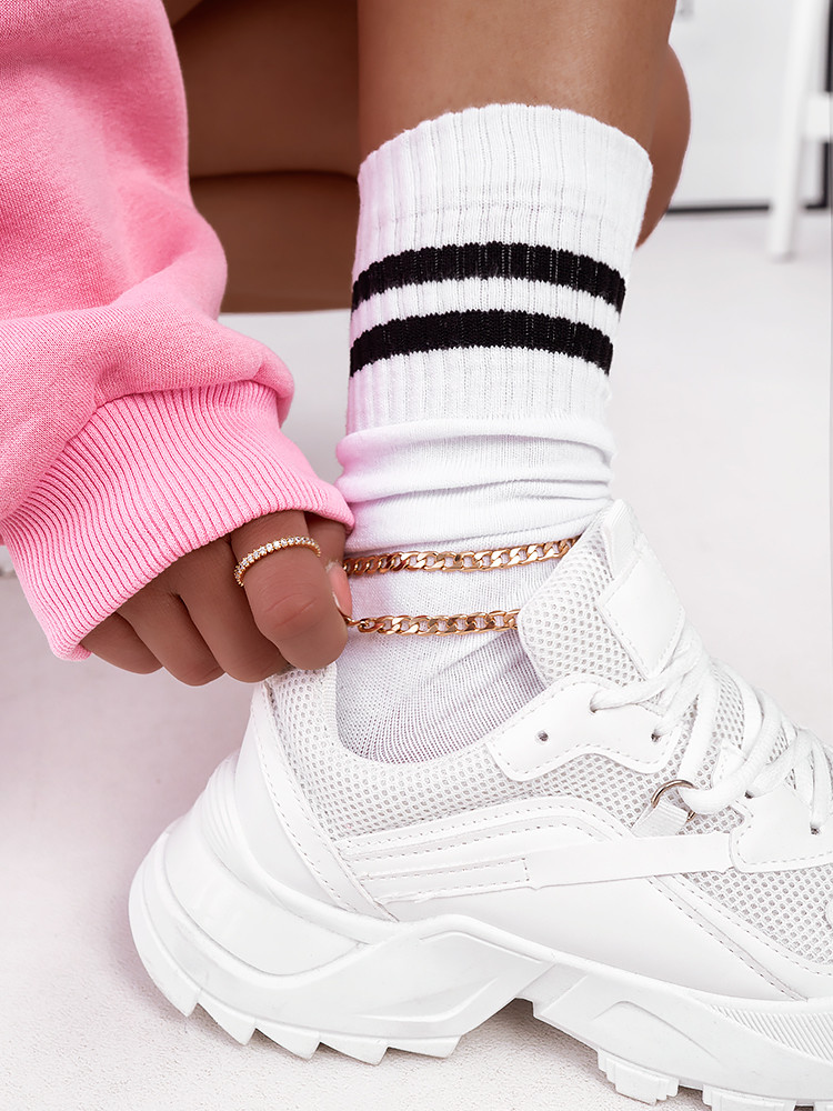 HIGH STRIPED BASKET SOCKS