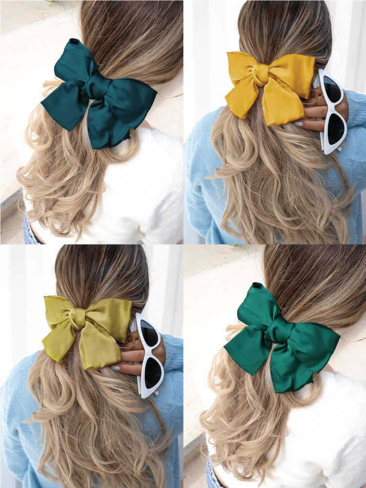 SATIN BOW HAIRCLIP YKPO