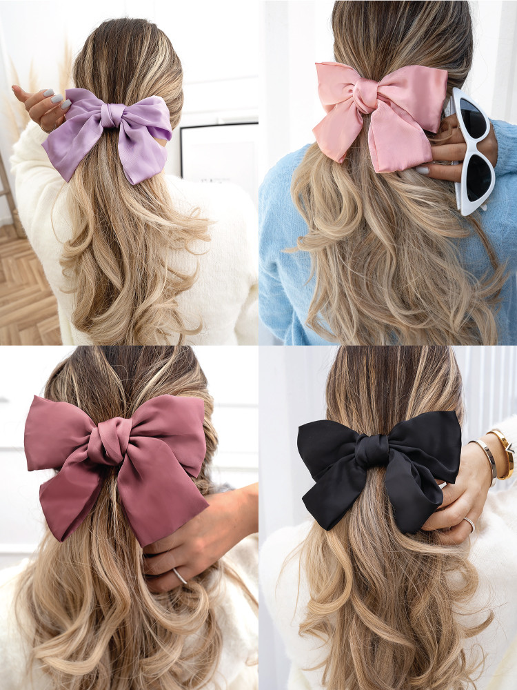 SATIN BOW HAIRCLIP LPBSW
