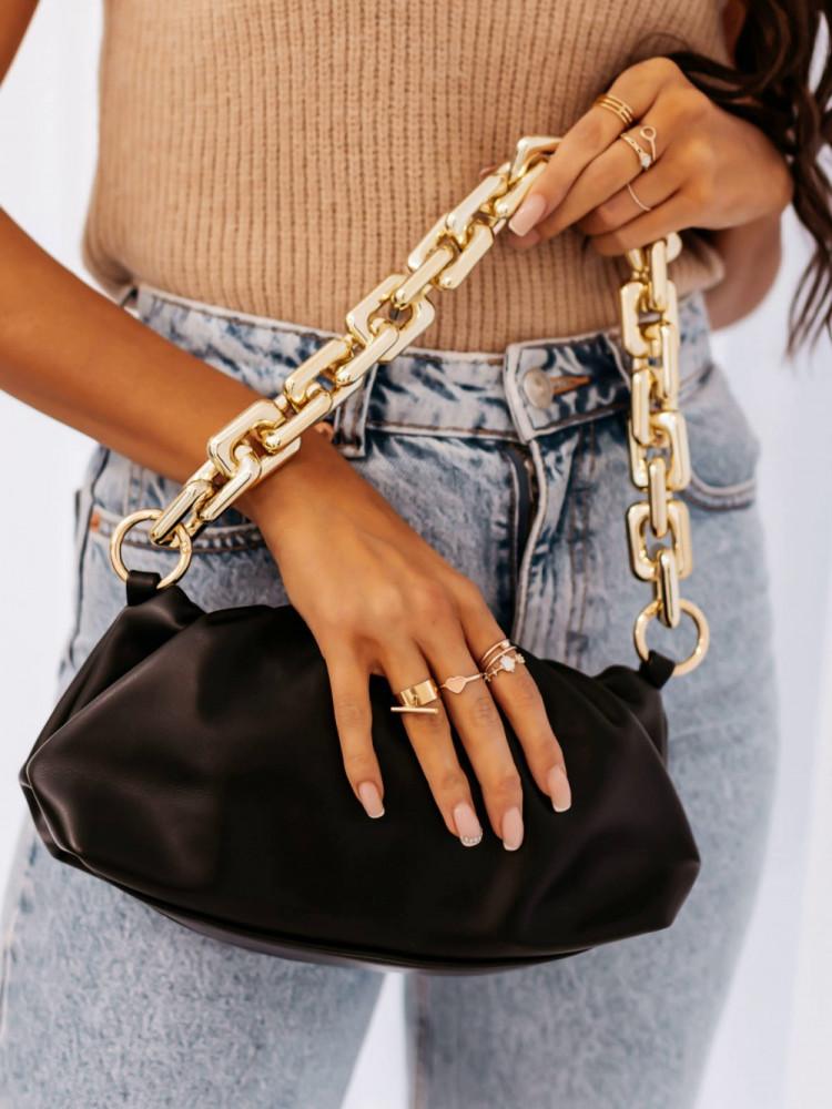 NORVIL BLACK SHOULDER BAG