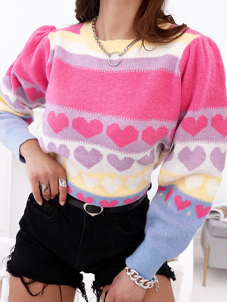 HEARTBIT KNITTED BLOUSE