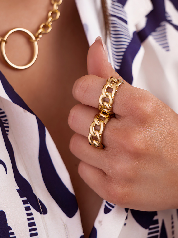 GOLD CHAIN RINGS