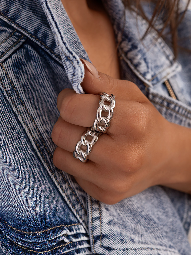 SILVER CHAIN RINGS