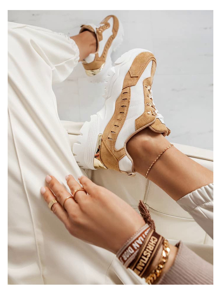 WALK CAMEL SNEAKERS
