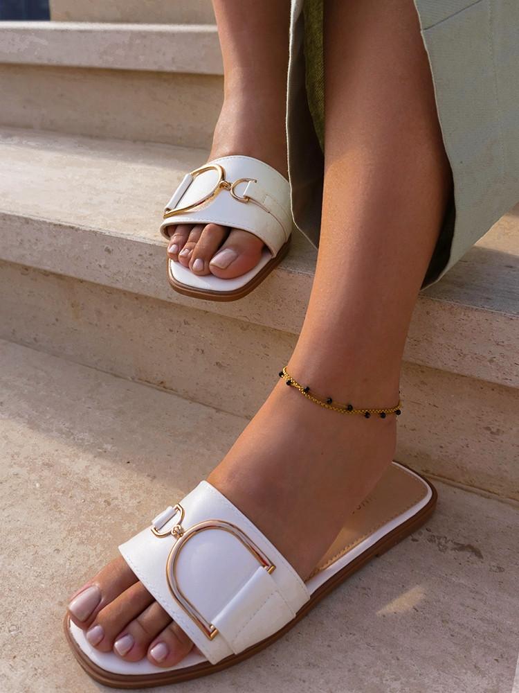 BASILICA WHITE SLIPPERS