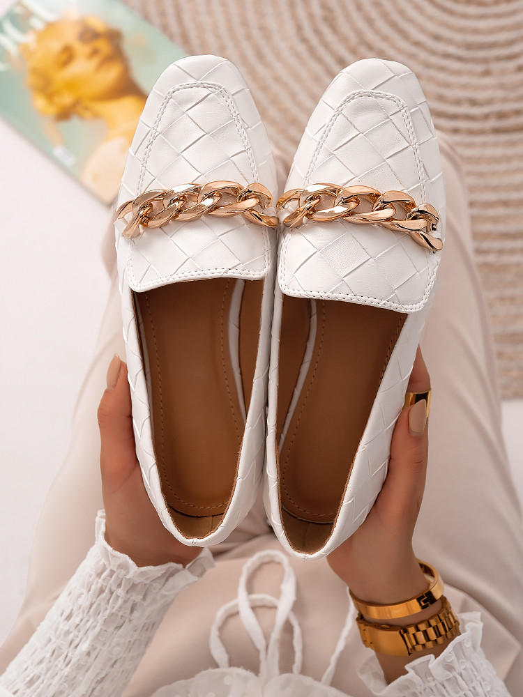 MORIN WHITE LOAFERS