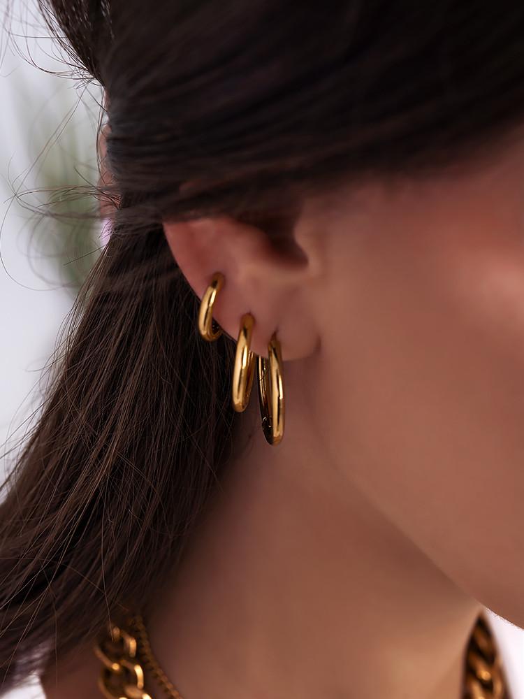 CALLIE GOLD HOOP EARRINGS
