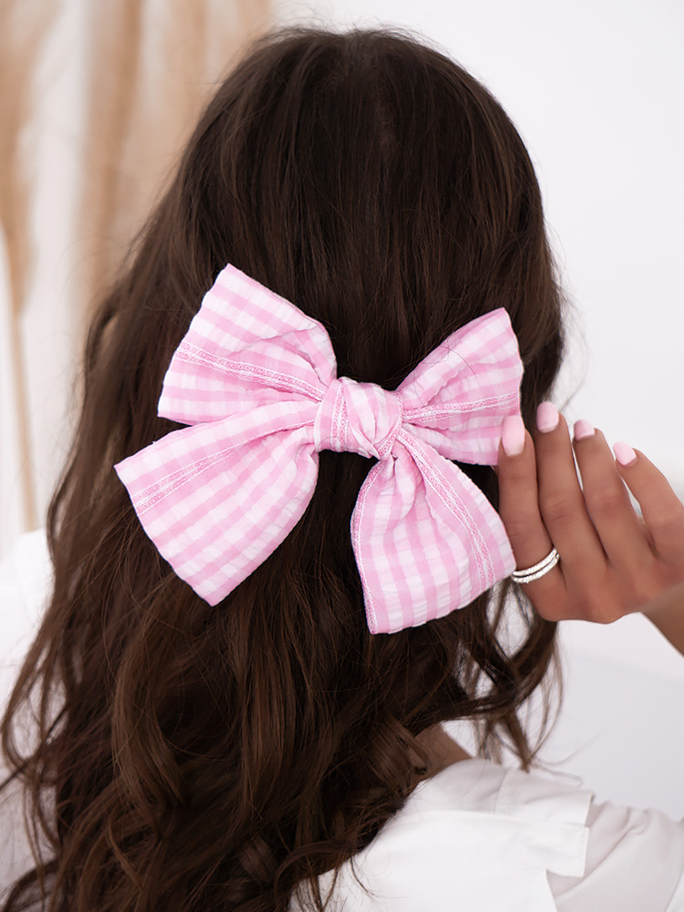 VICHY BOW HAIRCLIP
