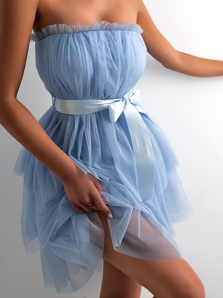 LINDA SKY BLUE TULLE DRESS