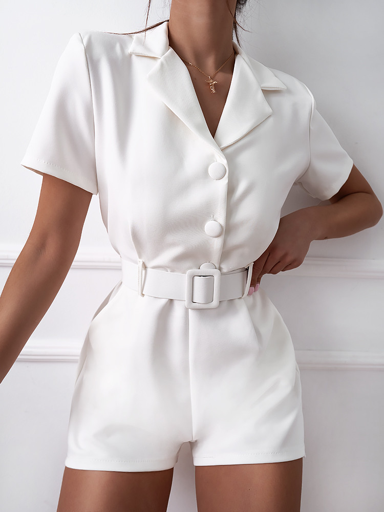FALON WHITE PLAYSUIT
