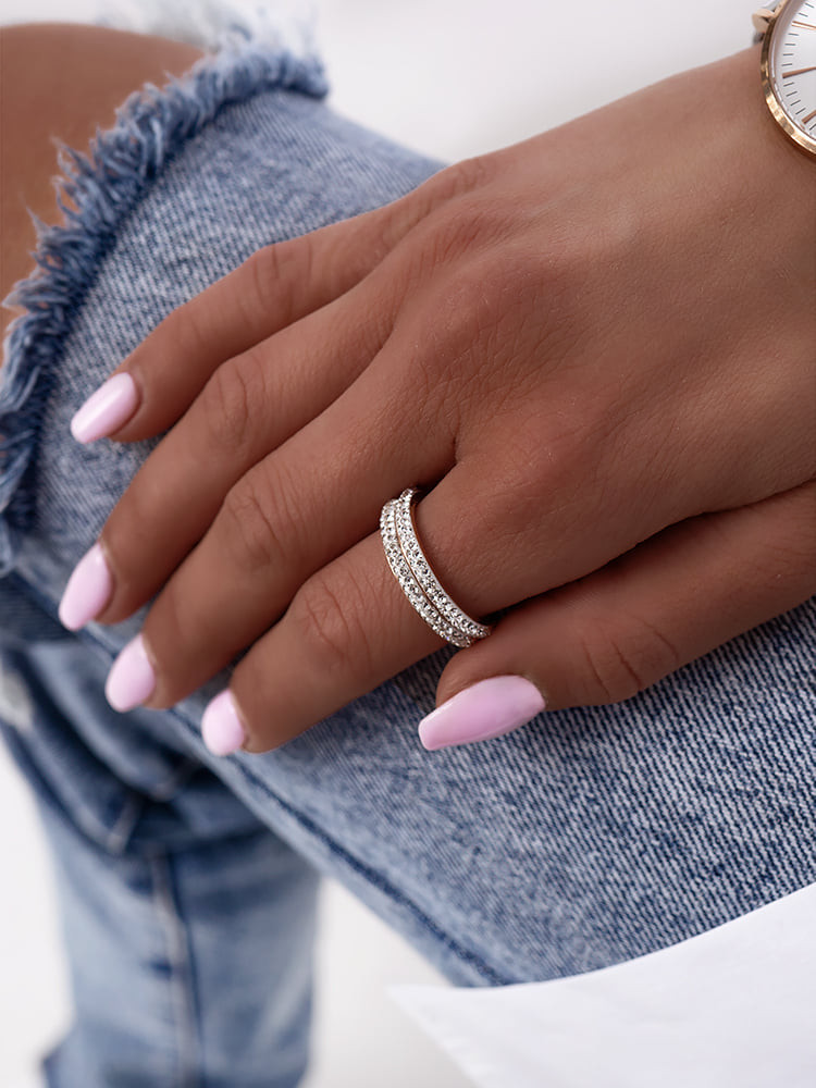 DOUBLE STRASS RING