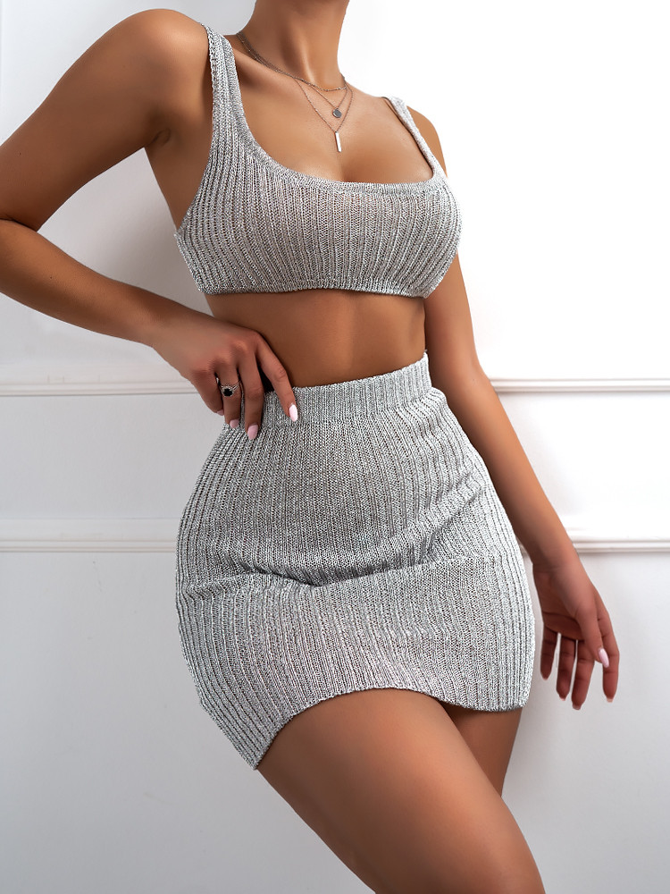 SIMONE SILVER KNITTED SET