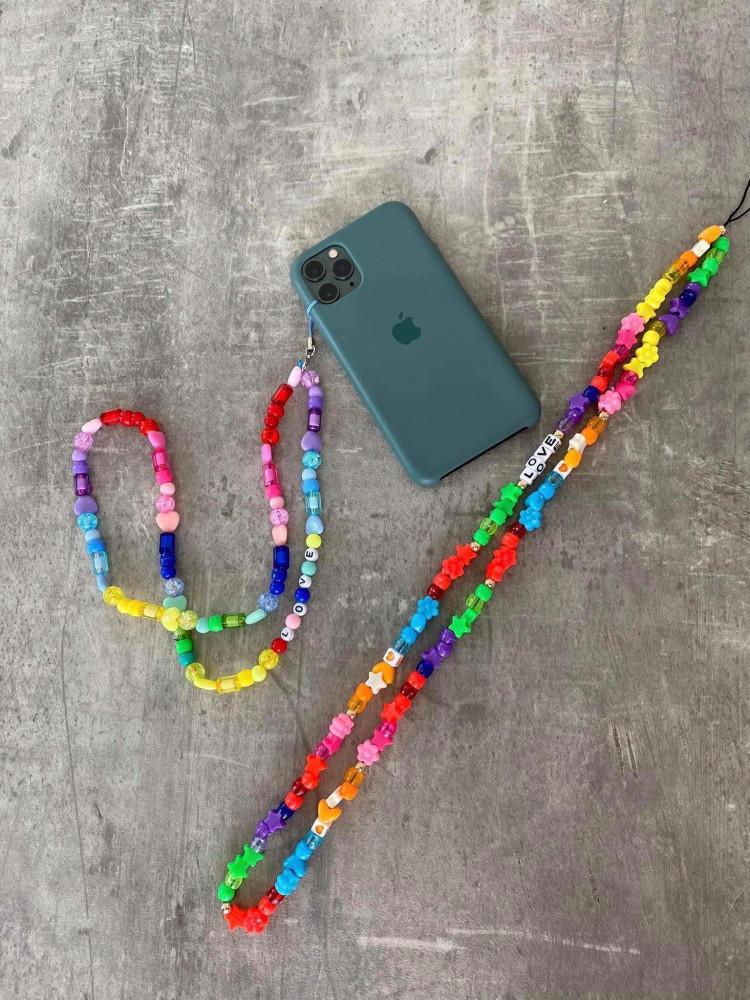 PHONE COLOURFUL BEAD STRAP