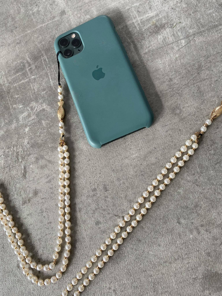 PHONE PEARLS & FISH STRAP
