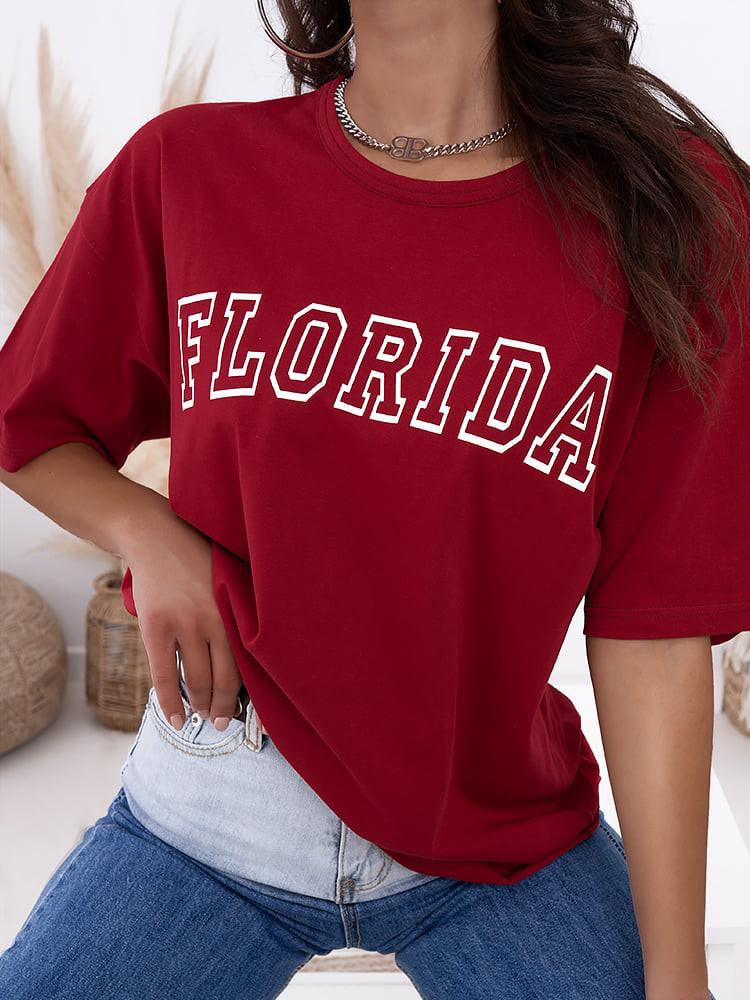 FLORIDA OVERSIZED RED TSHIRT