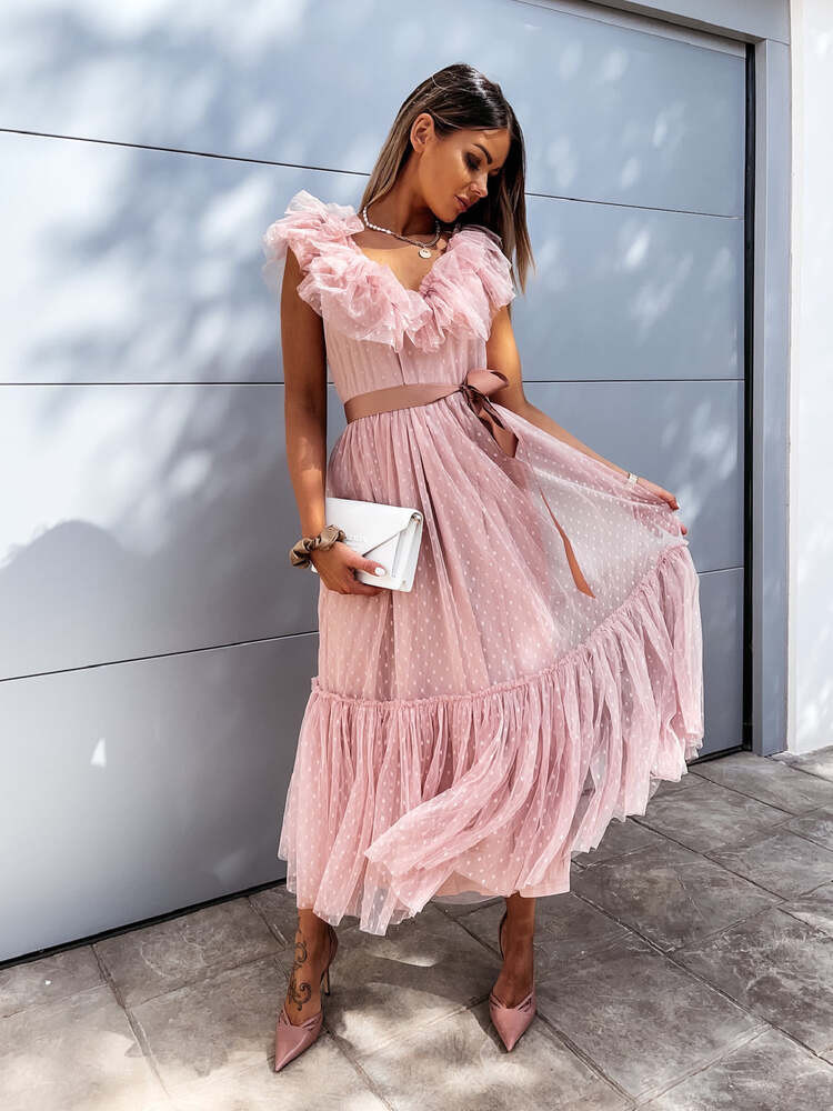 ALISHA PINK TULLE DRESS