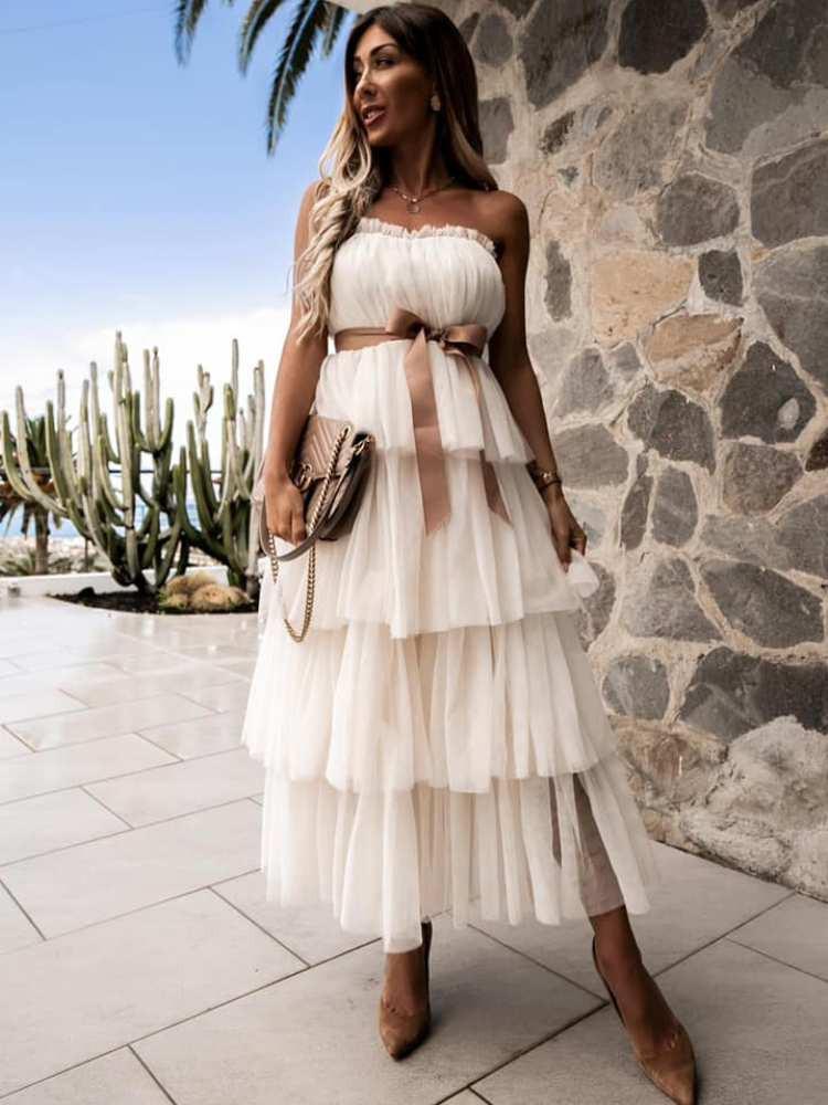 LINDSAY WHITE DRESS