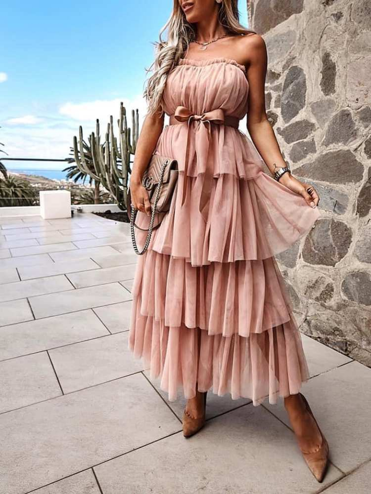 LINDSAY PINK DRESS