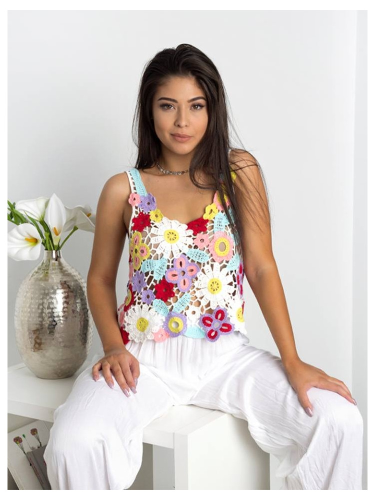 FLOWER POWER KNITTED TOP