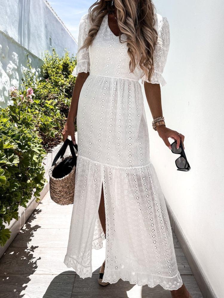MOREALE WHITE MAXI DRESS