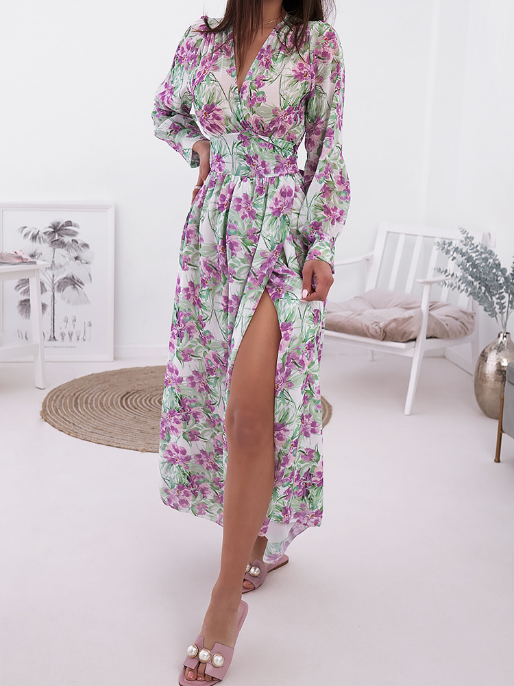 REGAL FLORAL DRESS
