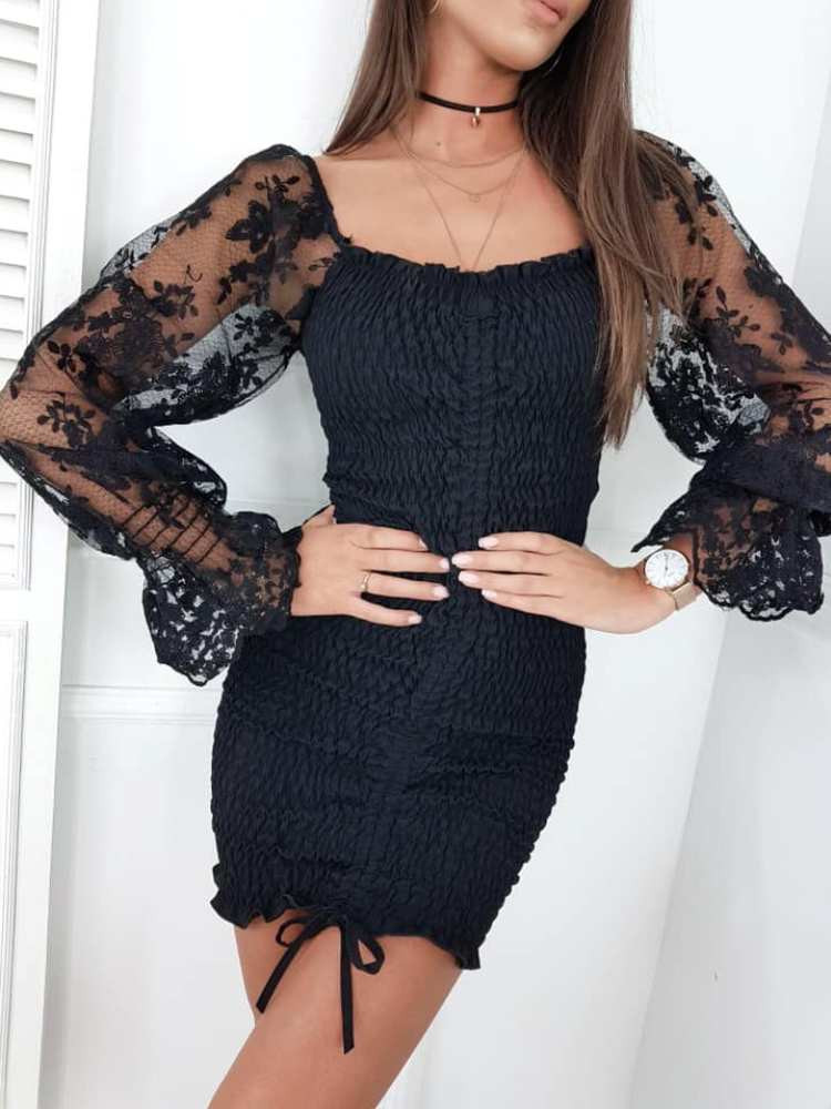 LIBRE BLACK MINI DRESS