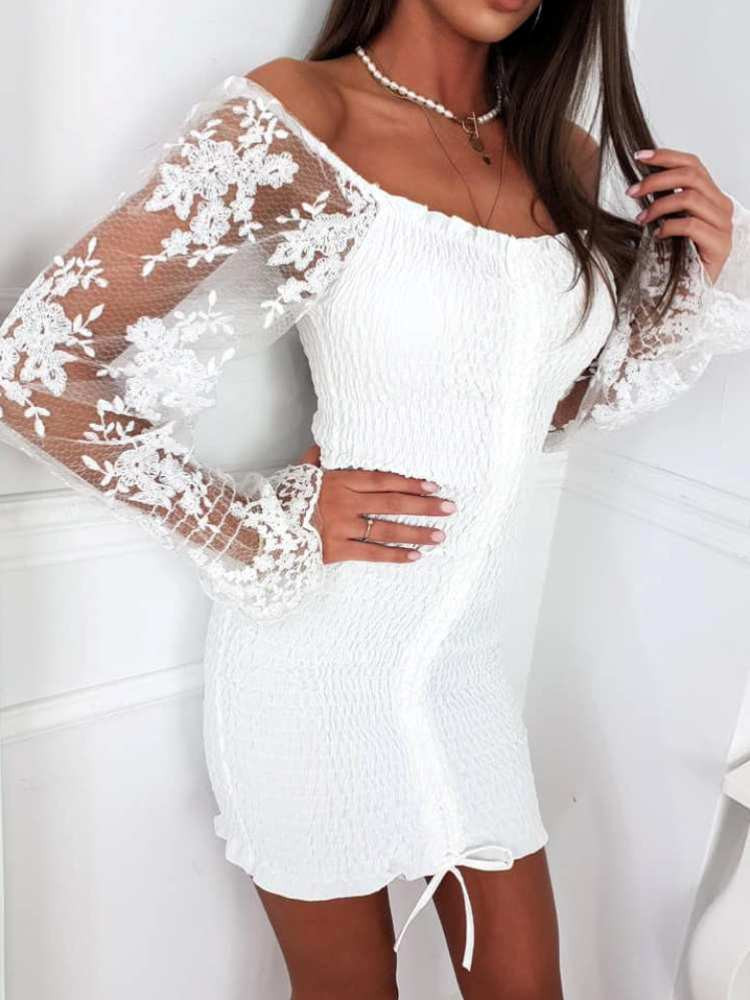 LIBRE WHITE MINI DRESS