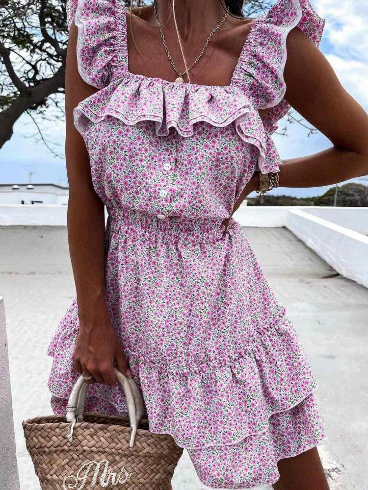 ASK PINK FLORAL DRESS