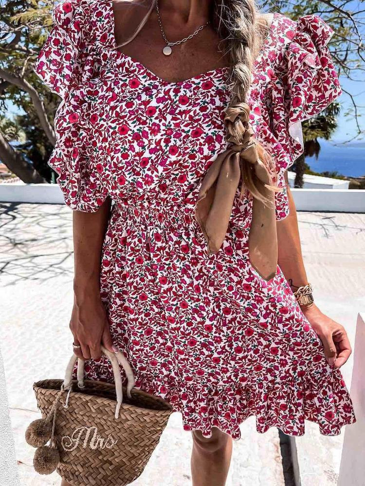 GLORIA FLORAL MINI DRESS