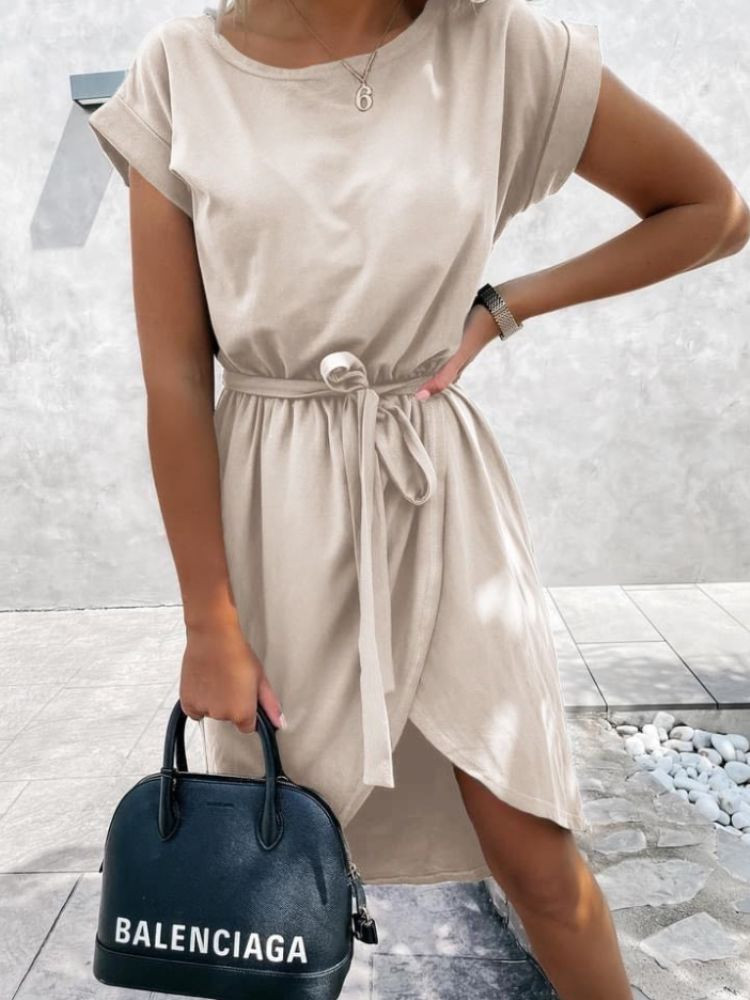 TINA BEIGE DRESS