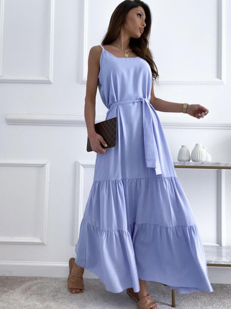 SUNNY SKY BLUE MAXI DRESS