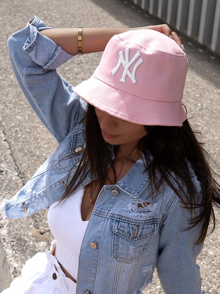 NY PINK BUCKET HAT